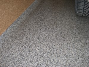 Garaazi põrand hõõrdemassist